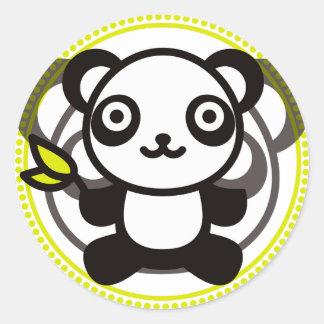 Le jouet bourré du panda adhésifs ronds