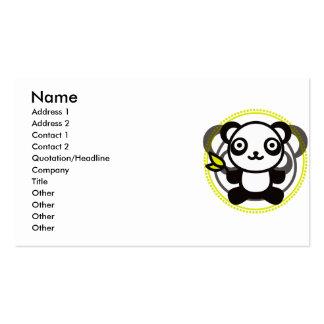 Le jouet bourré du panda carte de visite standard