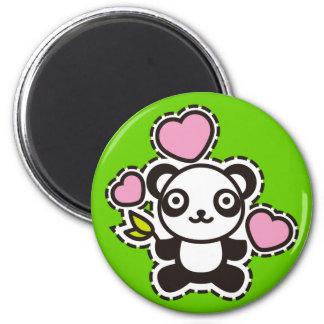 Le jouet bourré du panda magnets