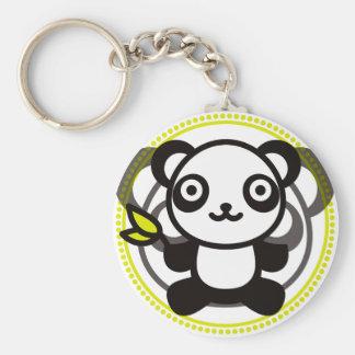 Le jouet bourré du panda porte-clef