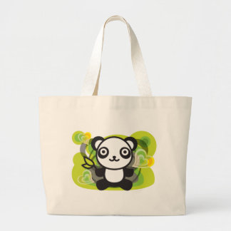 Le jouet bourré du panda sacs en toile