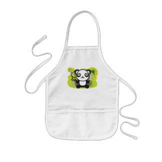 Le jouet bourré du panda tablier