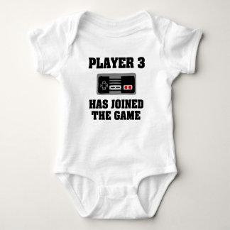 Le joueur 3 a joint la chemise drôle de bébé de body