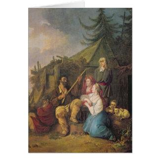 Le joueur de balalaïka, 1764 carte de vœux