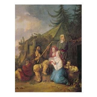Le joueur de balalaïka, 1764 carte postale