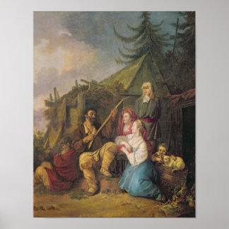 Le joueur de balalaïka, 1764 posters