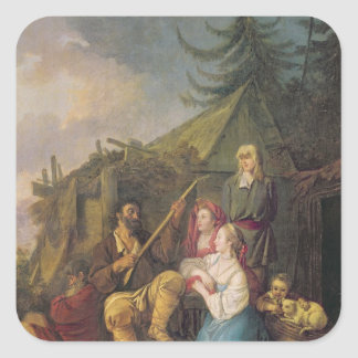 Le joueur de balalaïka, 1764 sticker carré