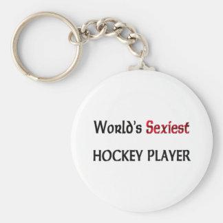 Le joueur de hockey le plus sexy du monde porte-clé rond
