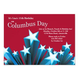 Le jour de Columbus tient le premier rôle Carton D'invitation 12,7 Cm X 17,78 Cm