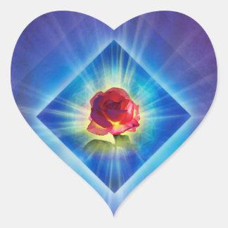 Le jour de la rémission H053 s'est levé Sticker Cœur