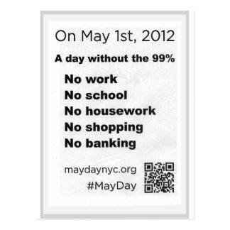 Le jour de mai occupent l'insecte de Stree de mur Carte Postale