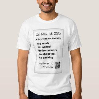Le jour de mai occupent l'insecte de Stree de mur T-shirts