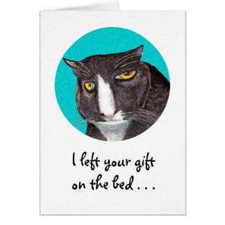 Le jour de mère d'amoureux des chats carte de vœux