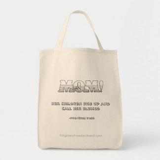 Le jour de mère de maman merci sac en toile épicerie