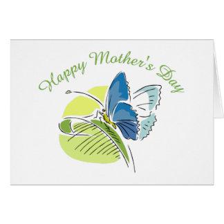 Le jour de mère de papillon carde 1 cartes de vœux