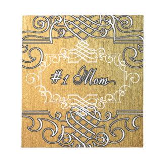 le jour de mère d'or de typographie de la maman #1 blocs notes