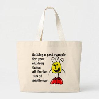 Le jour de mère drôle sacs en toile