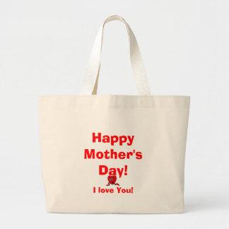 Le jour de mère heureux ! , Je t'aime ! Sacs Fourre-tout