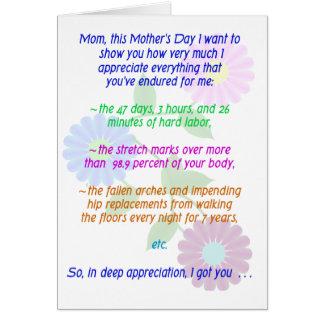 Le jour de mère heureux pour tous ce que vous avez cartes