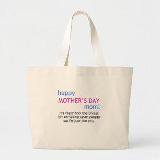 le jour de mère heureux sac