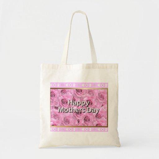 Le jour de mère heureux sacs en toile