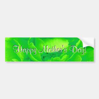 Le jour de mère heureux vert clair s est levé autocollants pour voiture