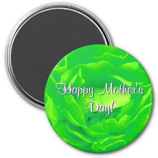 Le jour de mère heureux vert clair s'est levé magnets