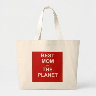 Le jour de mère - la meilleure maman sac en toile