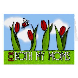 Le jour de mère - pour mes deux mamans carte de vœux