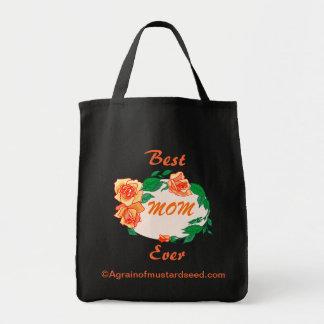 Le jour de mère sac en toile épicerie
