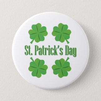 Le jour de Patrick avec le trèfle Badges