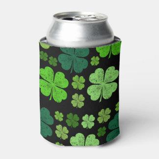 Le jour de Patrick de saint, trèfles - noir vert Rafraichisseur De Cannettes