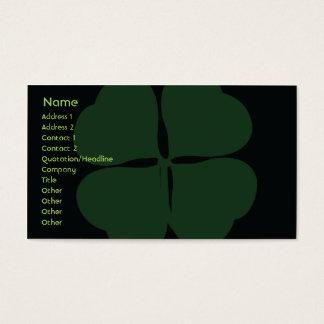 Le jour de St Patrick - affaires Cartes De Visite