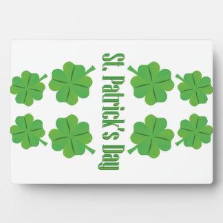 Le jour de St Patrick avec le trèfle Impression Sur Plaque