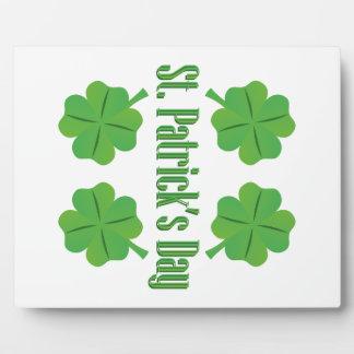 Le jour de St Patrick avec le trèfle Photos Sur Plaques