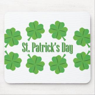 Le jour de St Patrick avec le trèfle Tapis De Souris
