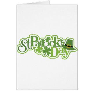 Le jour de St Patrick, conception d'Irlandais de Carte De Vœux