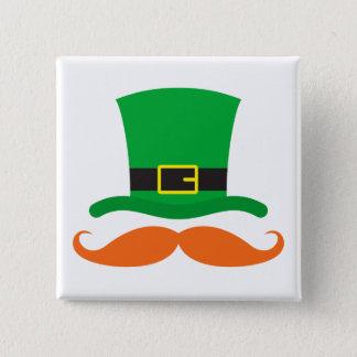 Le jour de St Patrick drôle de moustache de Badges
