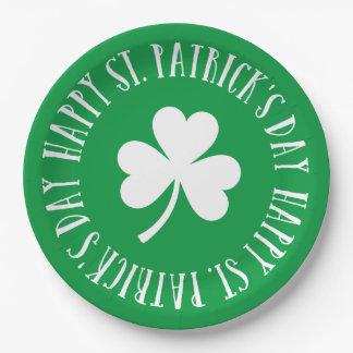 Le jour de St Patrick heureux Assiettes En Papier