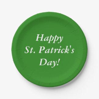Le jour de St Patrick heureux ! Assiettes En Papier