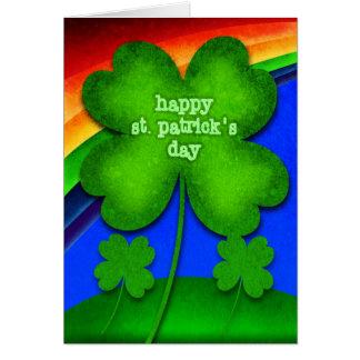 Le jour de St Patrick heureux Carte De Vœux