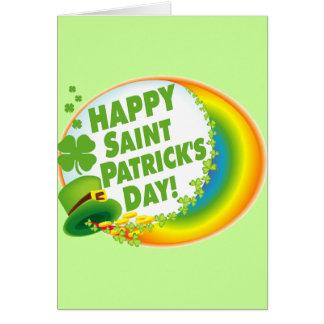 Le jour de St Patrick heureux ! Carte De Vœux