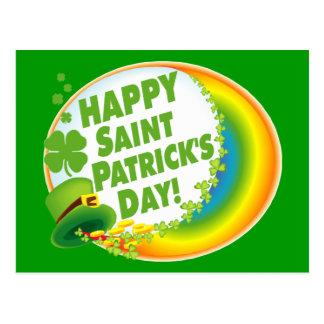 Le jour de St Patrick heureux ! Carte Postale