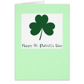 Le jour de St Patrick heureux Cartes