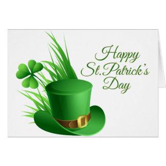 Le jour de St Patrick heureux, saint irlandais de Carte De Vœux