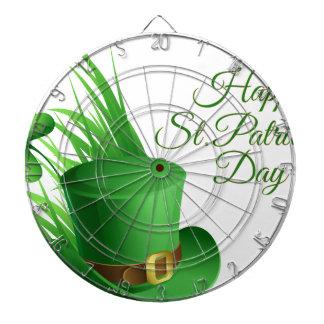 Le jour de St Patrick heureux, saint irlandais de Jeux De Fléchettes