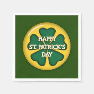 Le jour de St Patrick heureux Serviettes En Papier