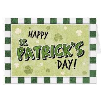 Le jour de St Patrick heureux - shamrock et Carte De Vœux