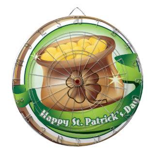 Le jour de St Patrick heureux, vacances Jeux De Fléchettes
