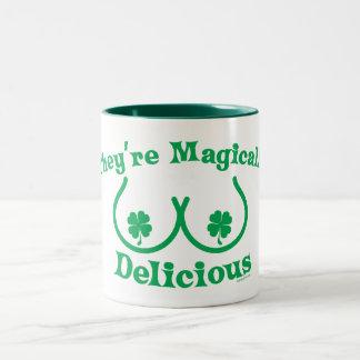 Le jour | de St Patrick ils sont comme par magie Tasse 2 Couleurs